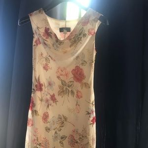 B.Moss Dresses - B.MOSS floral white dress - size 6